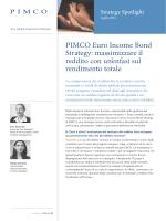 PIMCO Euro Income Bond Strategy: massimizzare il reddito con un
