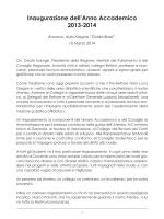 Relazione del Rettore Prof.Ing. Sauro Longhi