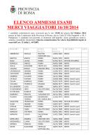 convocazioni esami 2014