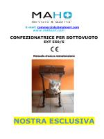 MANUALE SIGILLATRICE SOTTOVUOTO