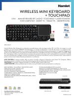 Wireless Mini Keyboard + Touchpad + Laser Pointer