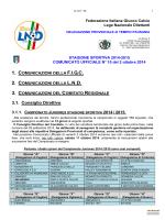 Comunicato Ufficiale n° 10