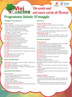 Un week end nel cuore verde di Firenze Programma