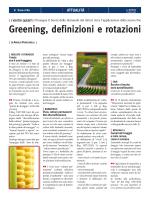 Greening, definizioni e rotazioni