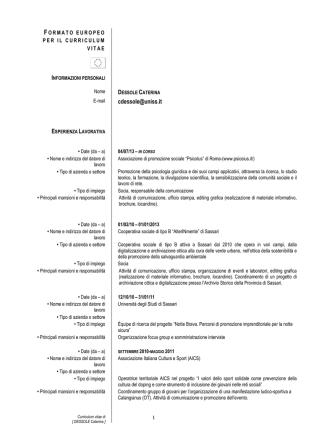 CV caterina dessole