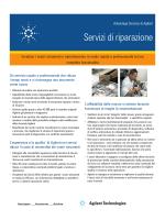 Servizi di riparazione - Agilent Technologies