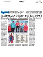 Adamello, Ivo Zulian vince nella bufera
