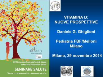 Daniele G. Ghiglioni pdf - SIPPS - Società Italiana di Pediatria