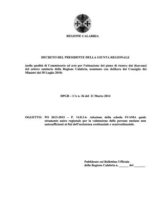 D.P.G.R. n.36 del 21.03.2014-PO 2013-2015-P