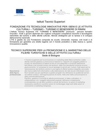 2920_Bologna Turismo - Formazione e lavoro