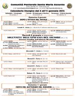 Avvisi 04.01.15 - Comunità Pastorale Santa Maria Assunta