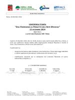Fondazioni Lirico Sinfoniche: Conferenza Stampa 15