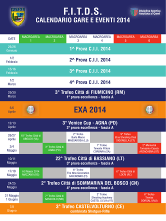 calendario eventi sportivi fitds 2014