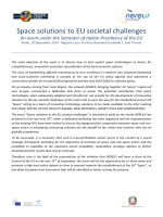 Space solutions to EU societal challenges
