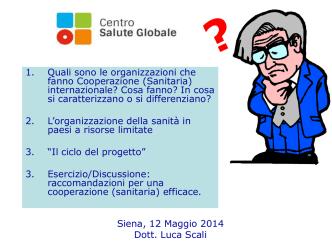 Attori della Cooperazione/Fonti di finanziamento