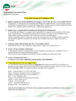 Faq elezioni fondoposte 2014 - Slp Cisl Roma Capitale e Rieti