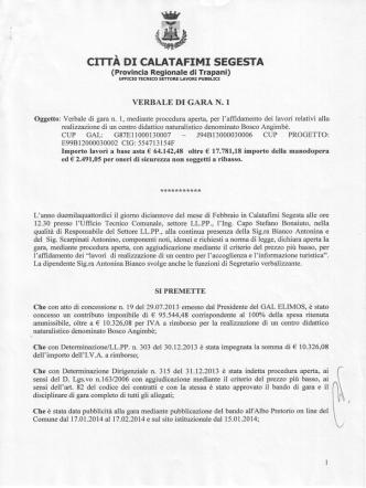 CIfiA DI CALATAFIMI SEGESTA - Comune di Calatafimi Segesta