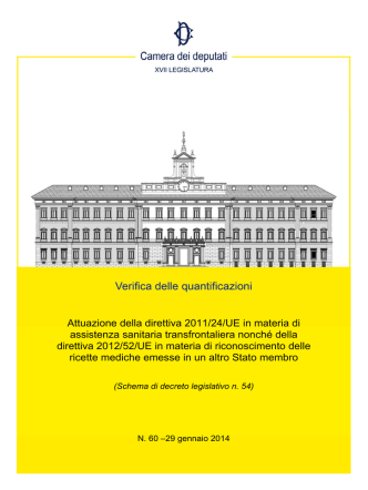 Attuazione della direttiva 2011/24/UE in materia di assistenza