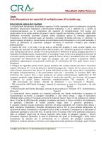 Risultati della Ricerca Stato fitosanitario dei materiali di