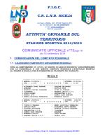 COMUNICATO UFFICIALE n°72/sgs 10