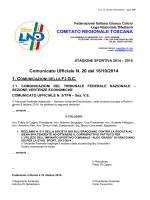 Comunicato 20 del 16 ottobre 2014