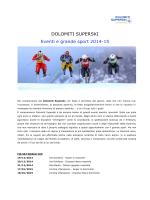 10 Dolomiti Superski - Eventi e grande sport 2014-15