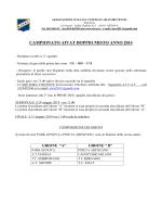 CAMPIONATO AIVAT DOPPIO MISTO ANNO 2014