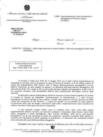 1 - Direzione regionale per i beni culturali e paesaggistici del Veneto