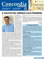 IL SALUTO DEL SINDACO LUCA PRANDINI