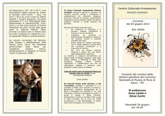20140604 Programma di Sala Concorso Piove di Sacco