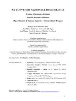 Programma e riassunti del XX Convegno Nazionale di Micologia