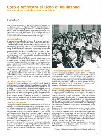 Coro e orchestra al Liceo di Bellinzona