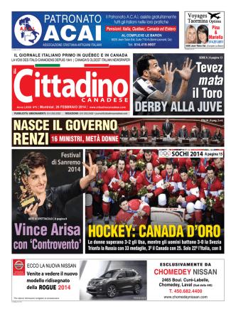 26 febbraio 2014 - Il Cittadino Canadese