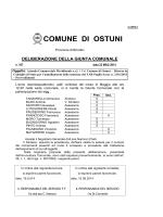 LA GIUNTA COMUNALE - Comune di Ostuni