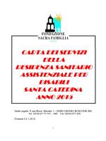 RSD S CATERINA - Fondazione Sacra Famiglia Onlus