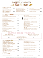LA PIZZA LA PASTA LASAGNE featured dishes of