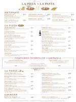 LA PIZZA LA PASTA LASAGNE featured dishes of