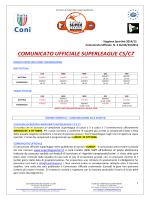 comunicato ufficiale superleague n. 3 del 06/10/2014