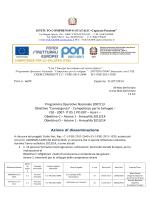 Programma Operativo Nazionale 2007/13 Obiettivo
