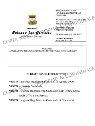 ALBO 00584-2014 - Comune di Palazzo San Gervasio
