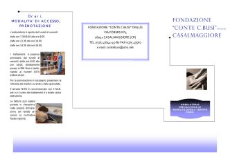 BROCHOURE FKT - Fondazione Busi