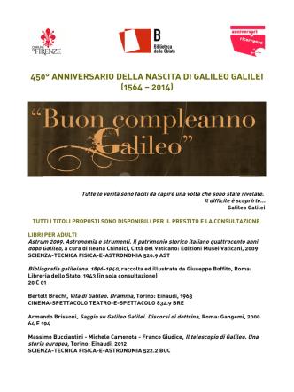 Bibliografia Galileo