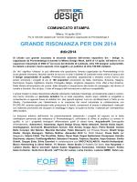 Grande risonanza per din 2014 - PDF