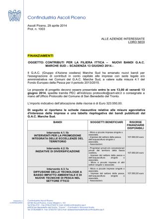 BANDI GAC MARCHE SUD 2014 - Confindustria Ascoli Piceno