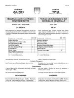 Steuersätze und Freibeträge (Ratsbeschluss Nr