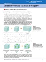 Le reazioni tra i gas e la legge di Avogadro