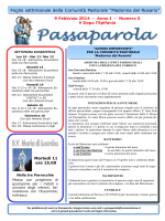 Passaparola 9 febbraio 2014