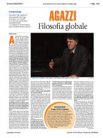 """""""Agazzi, filosofia globale"""", di Andrea Lavazza"""