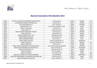 Banche Consorziate al 30 settembre 2014_Alfab