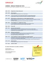 AGENDA - ORACLE TICINO DAY 2014